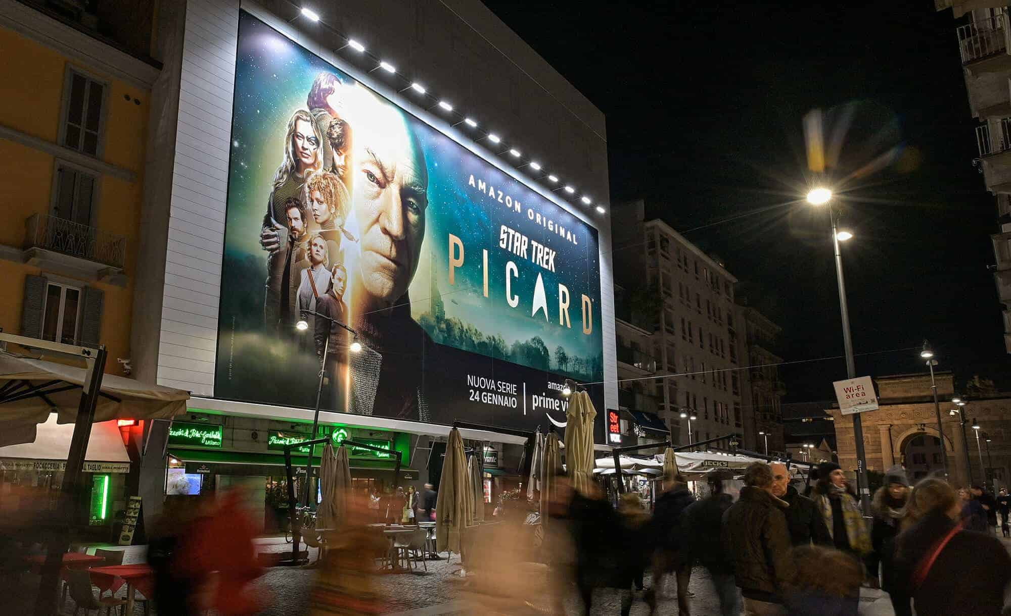 Maxi Affisione a Milano in Corso Como 6 di Amazon Star Trek Picard (serie tv)