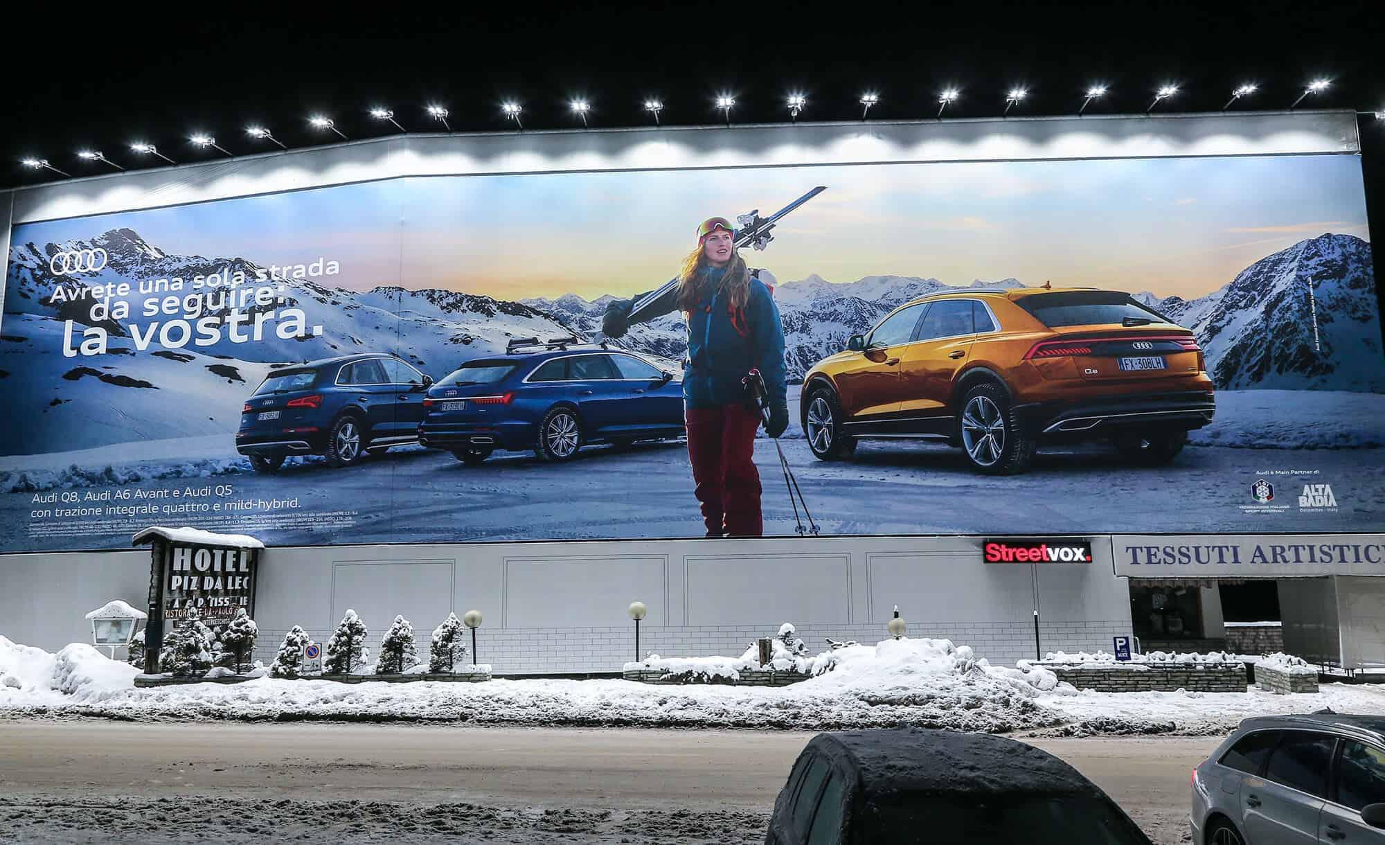 Maxi Affisione a Corvara in Alta Badia 5 di Audi (automotive)
