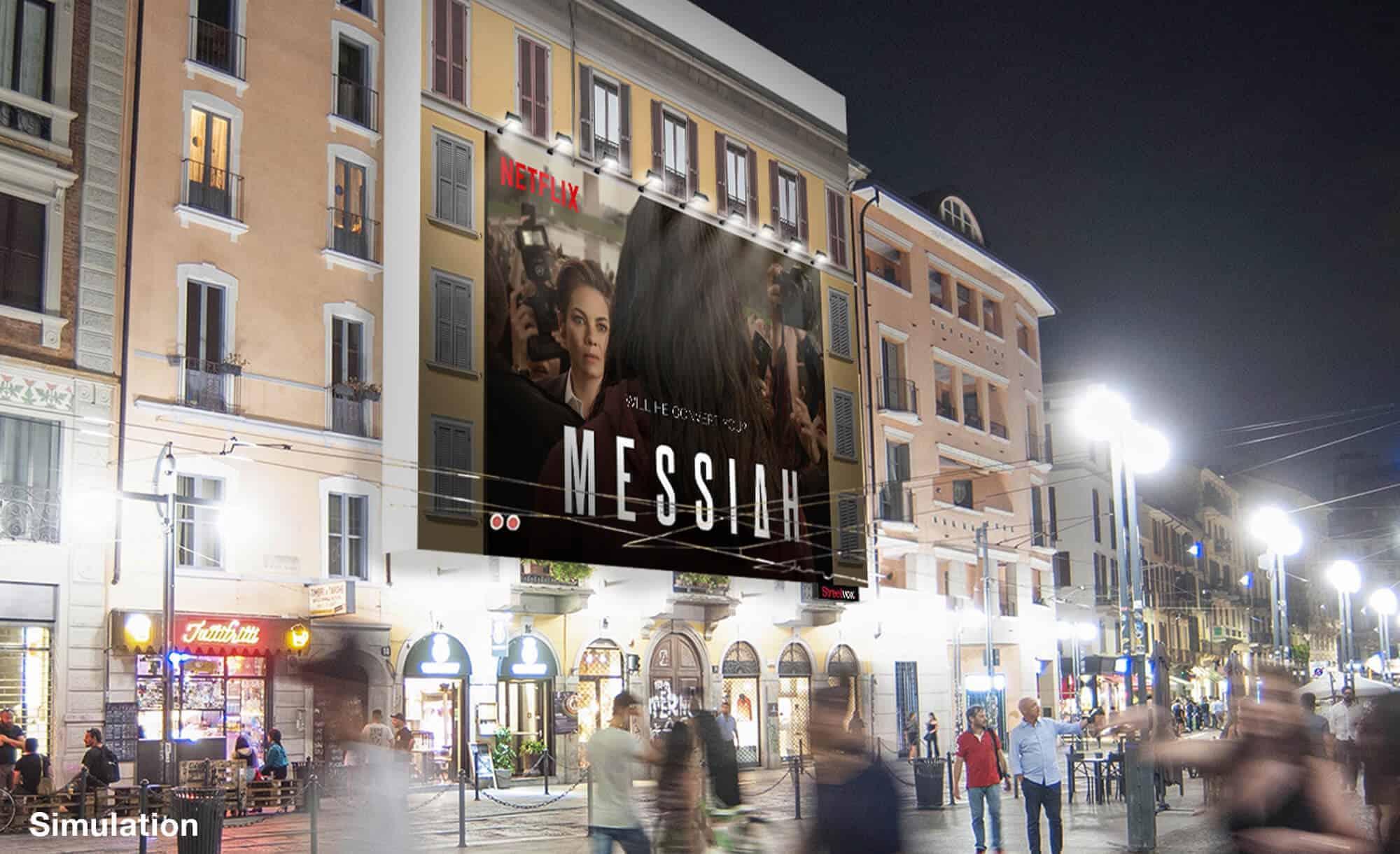 Maxi Affissione a Milano in Corso Ticinese 16 di Huawei (technology)