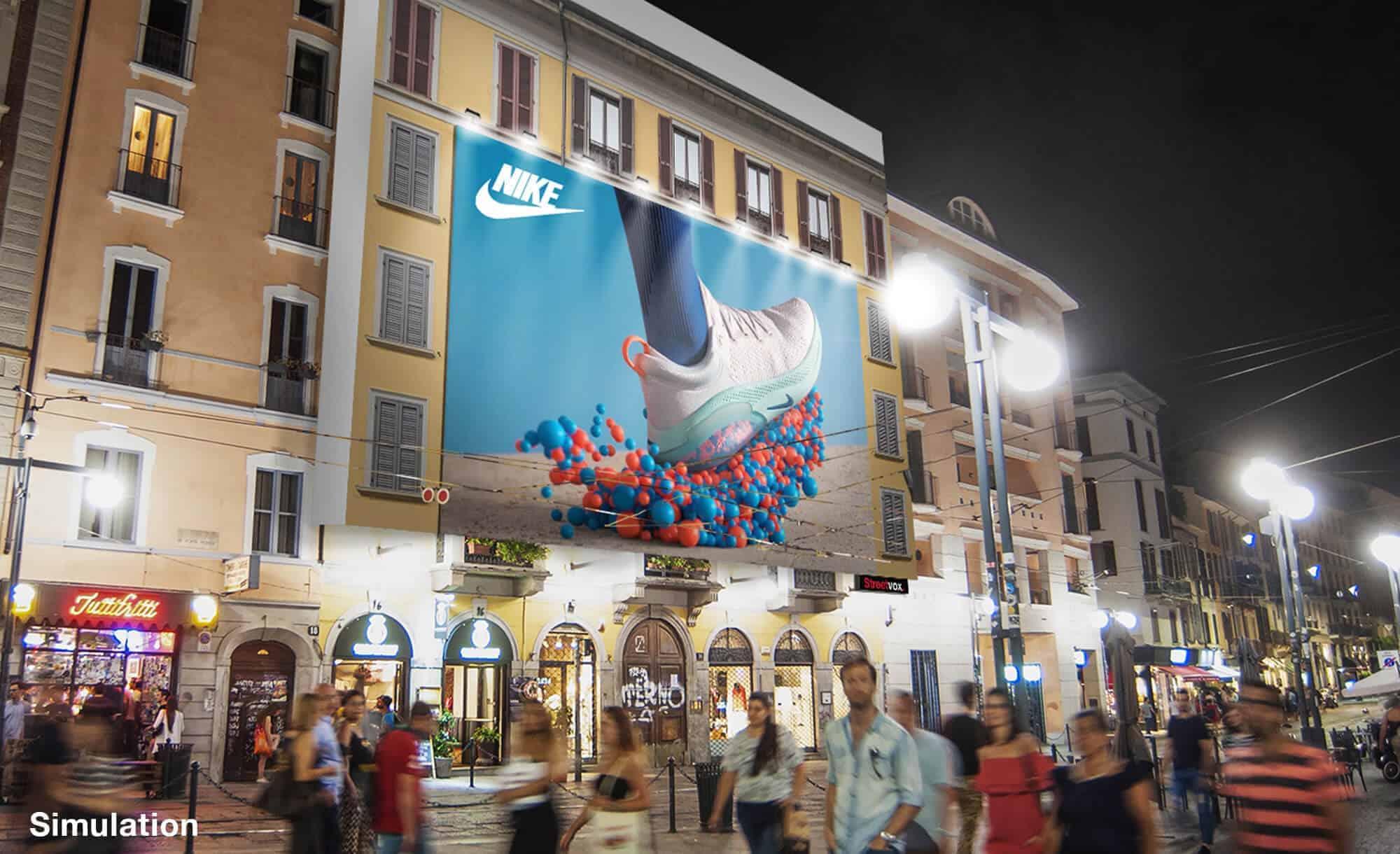 Maxi Affissione a Milano in Corso Ticinese 16 di Nike (sport)
