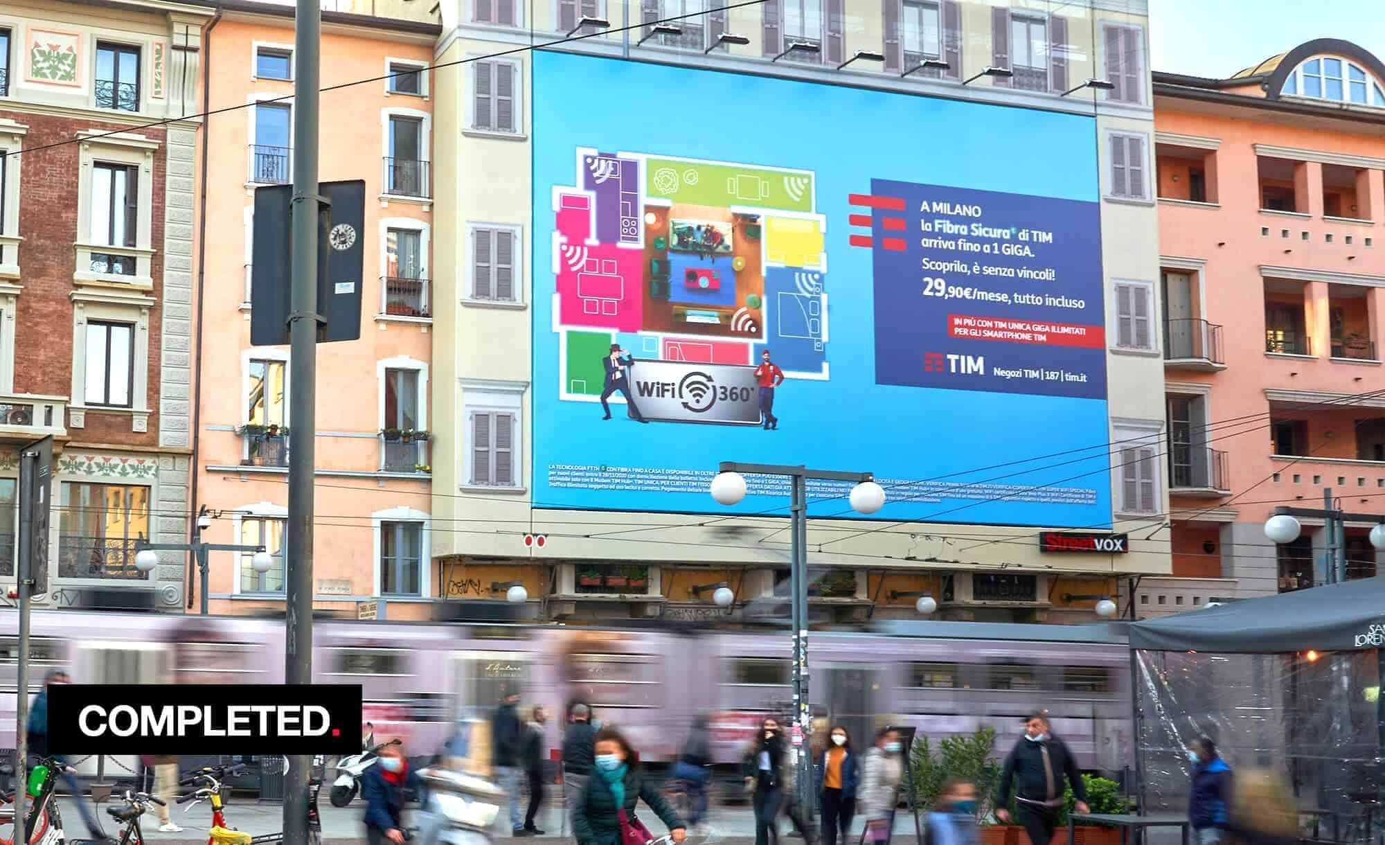 Maxi Affissione a Milano in Corso Ticinese 16 di TIM (Telco)