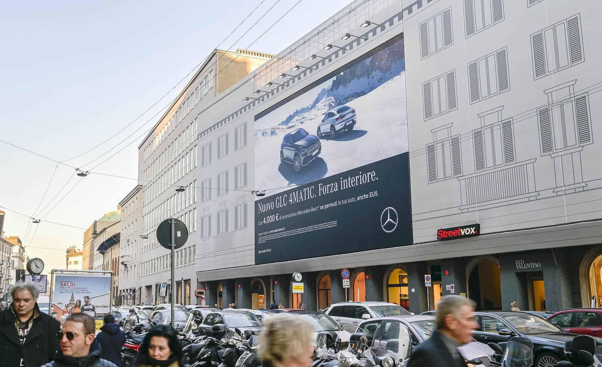 Maxi Affissione Venezia 6 Milano Mercedes (automotive)