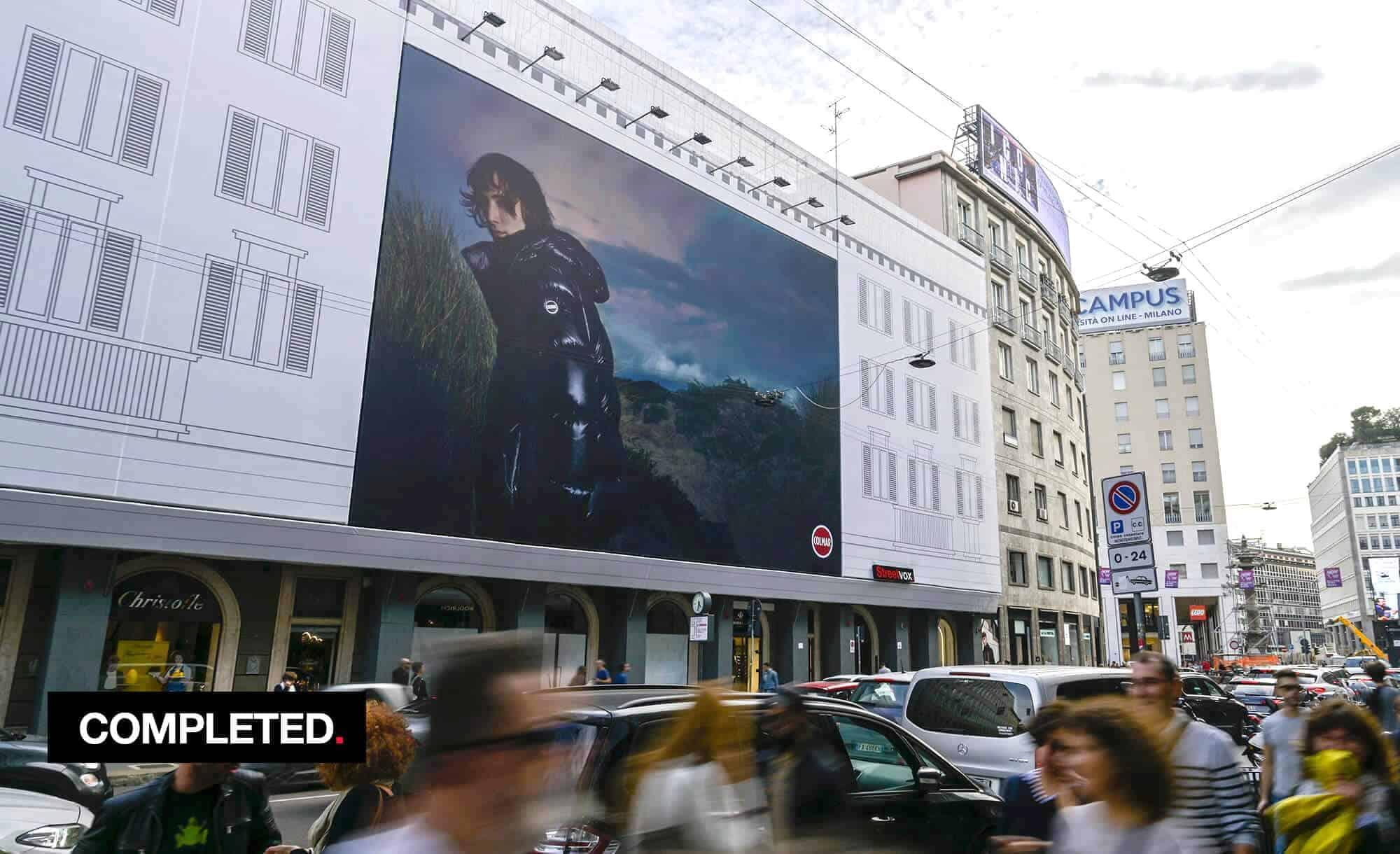 Maxi Affisione a Milano in Via Venezia 6 con Colmar (Fashion)