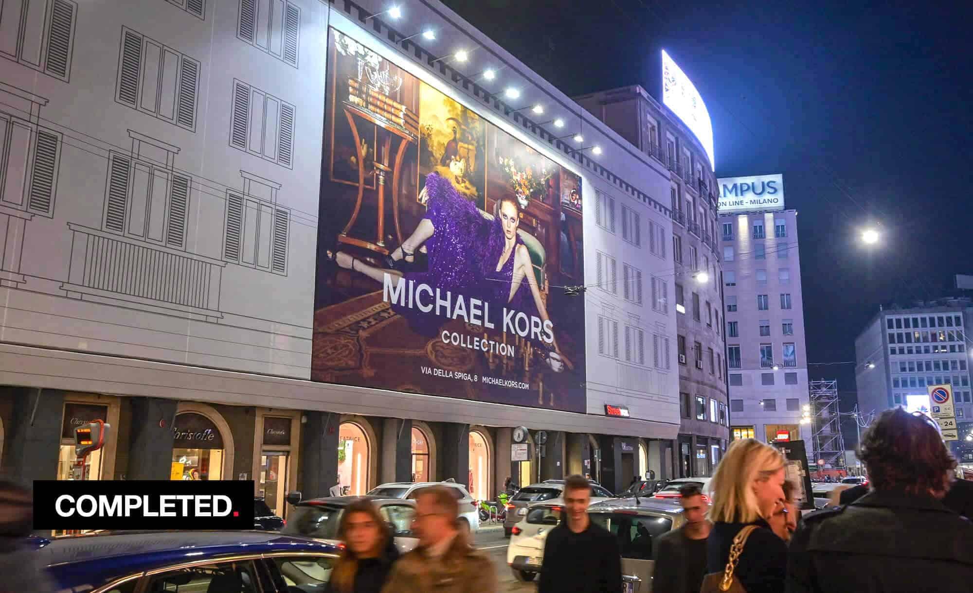 Maxi Affisione a Milano in Via Venezia 6 con Michael Kors (Fashion)