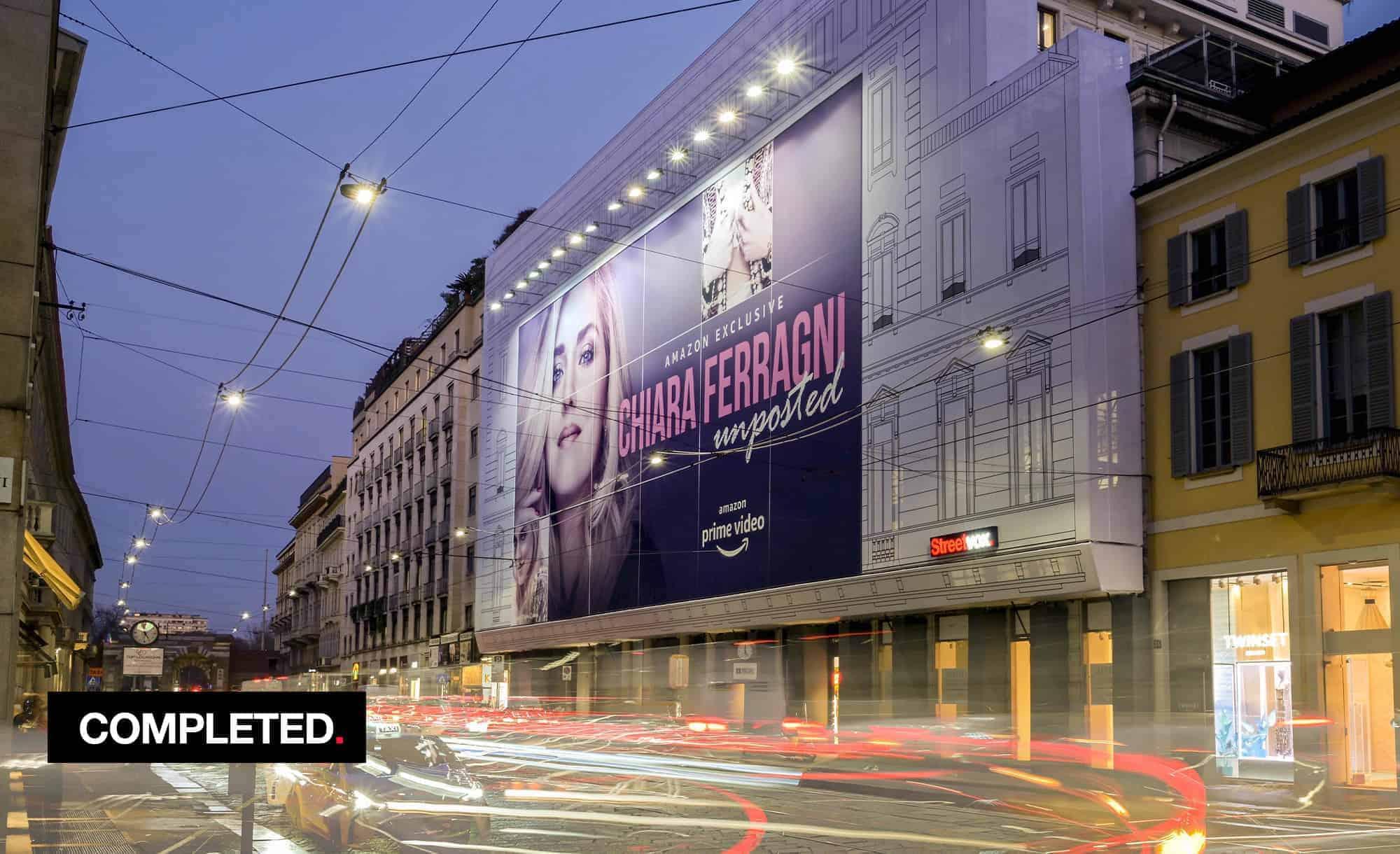 Maxi Affisione a Milano in Via Manzoni 38 di Amazon (Entertainment)
