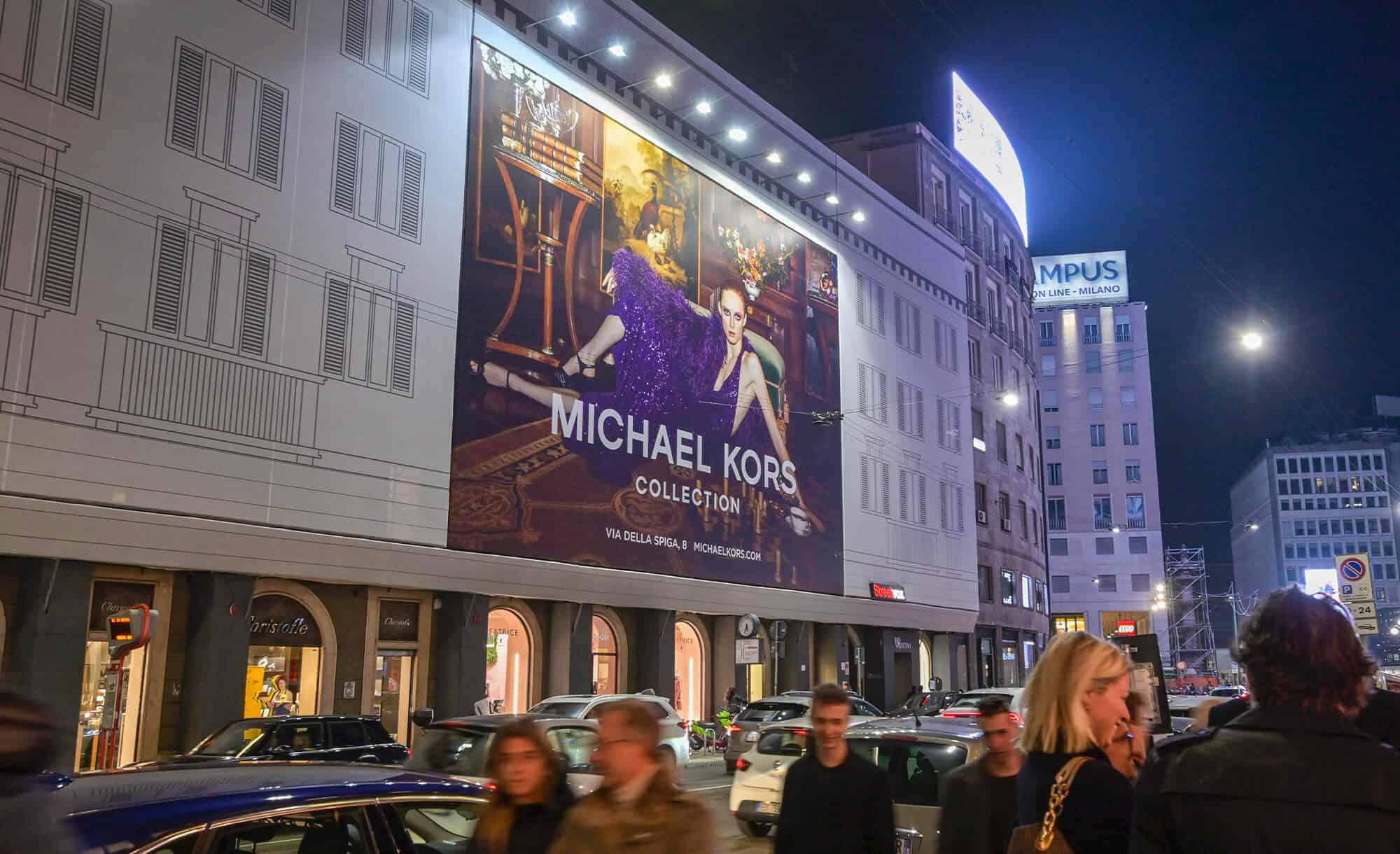 Maxi Affissione Streetvox in Venezia 6 Milano Michael Kors