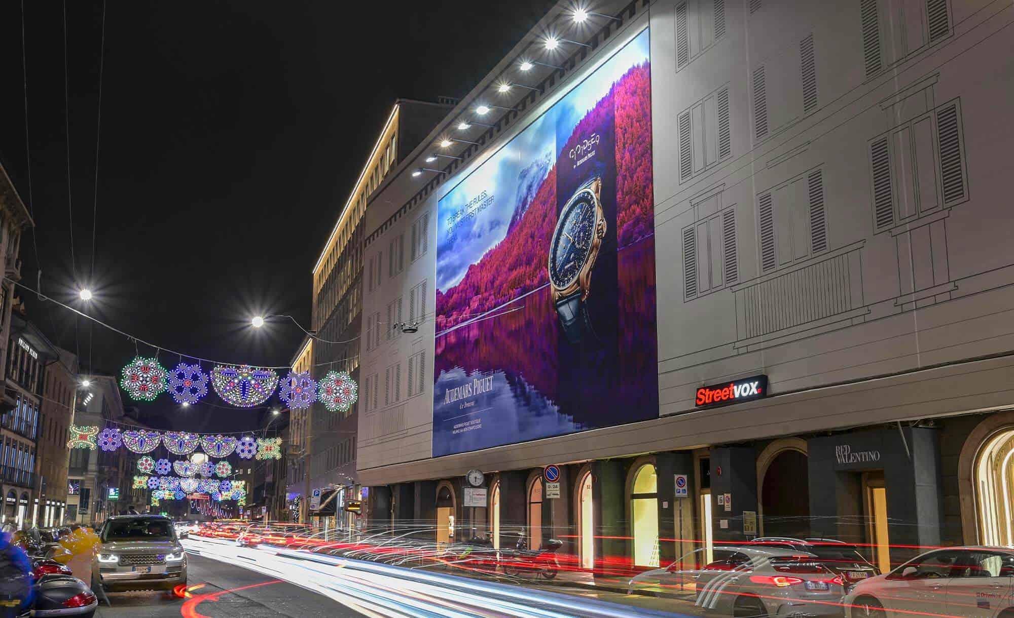 Maxi Affissione Streetvox in Venezia 6 Milano Audemart Piguet