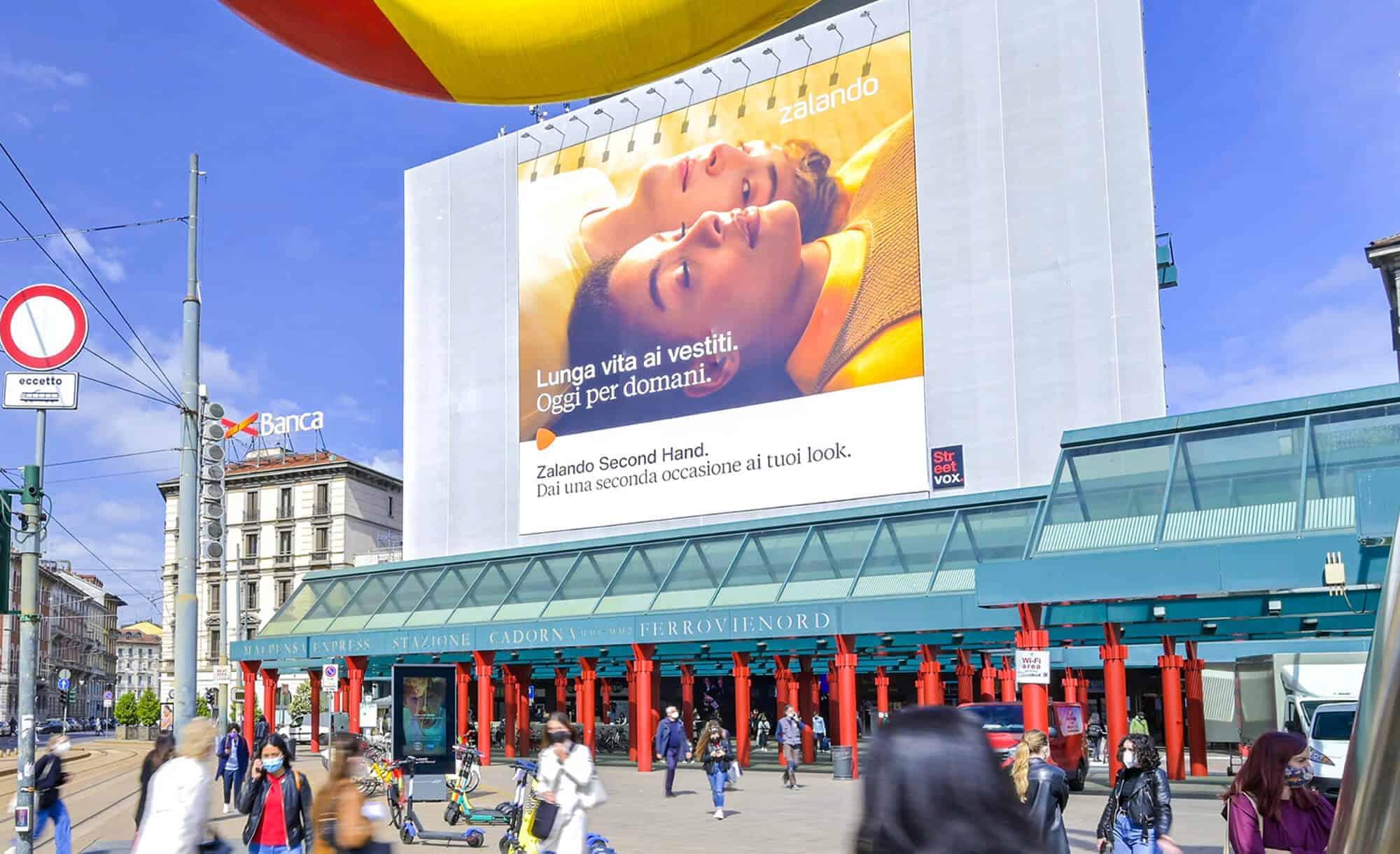 Maxi Affissione a Milano in Cadorna con Zalando (Fashion)