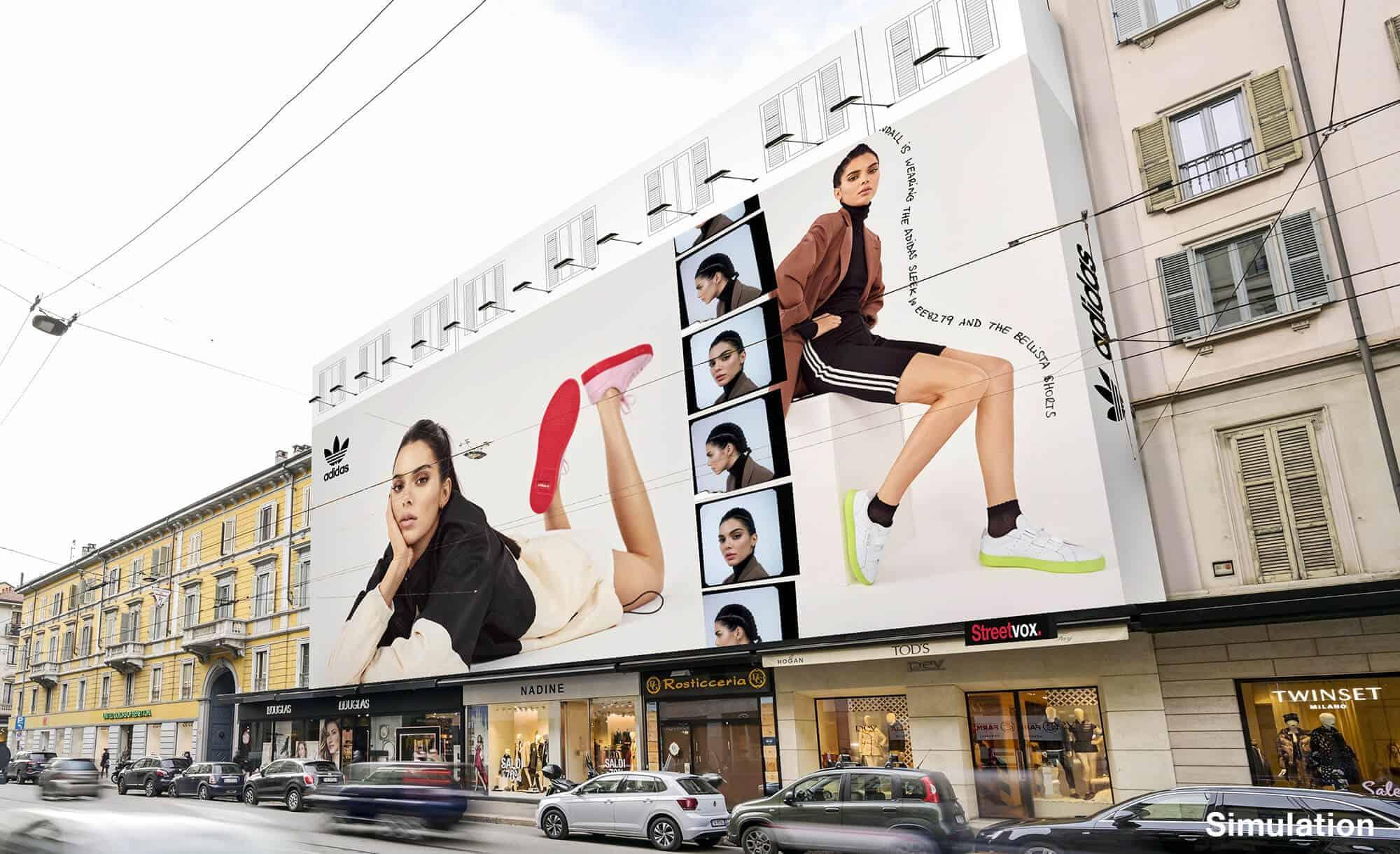 Maxi Affissione a Milano in Corso Vercelli 8 di Adidas (moda)