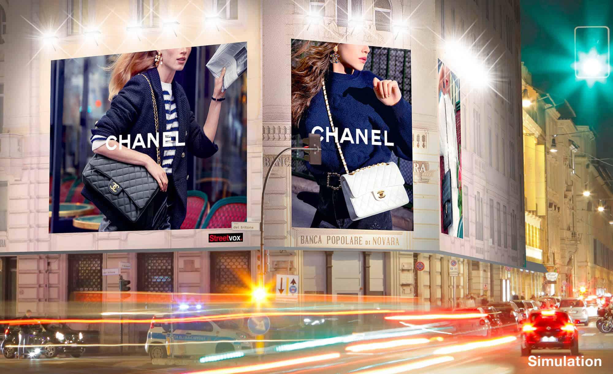 Maxi Affissione a Roma in Via del Tritone 66 con Chanel (Fashion)