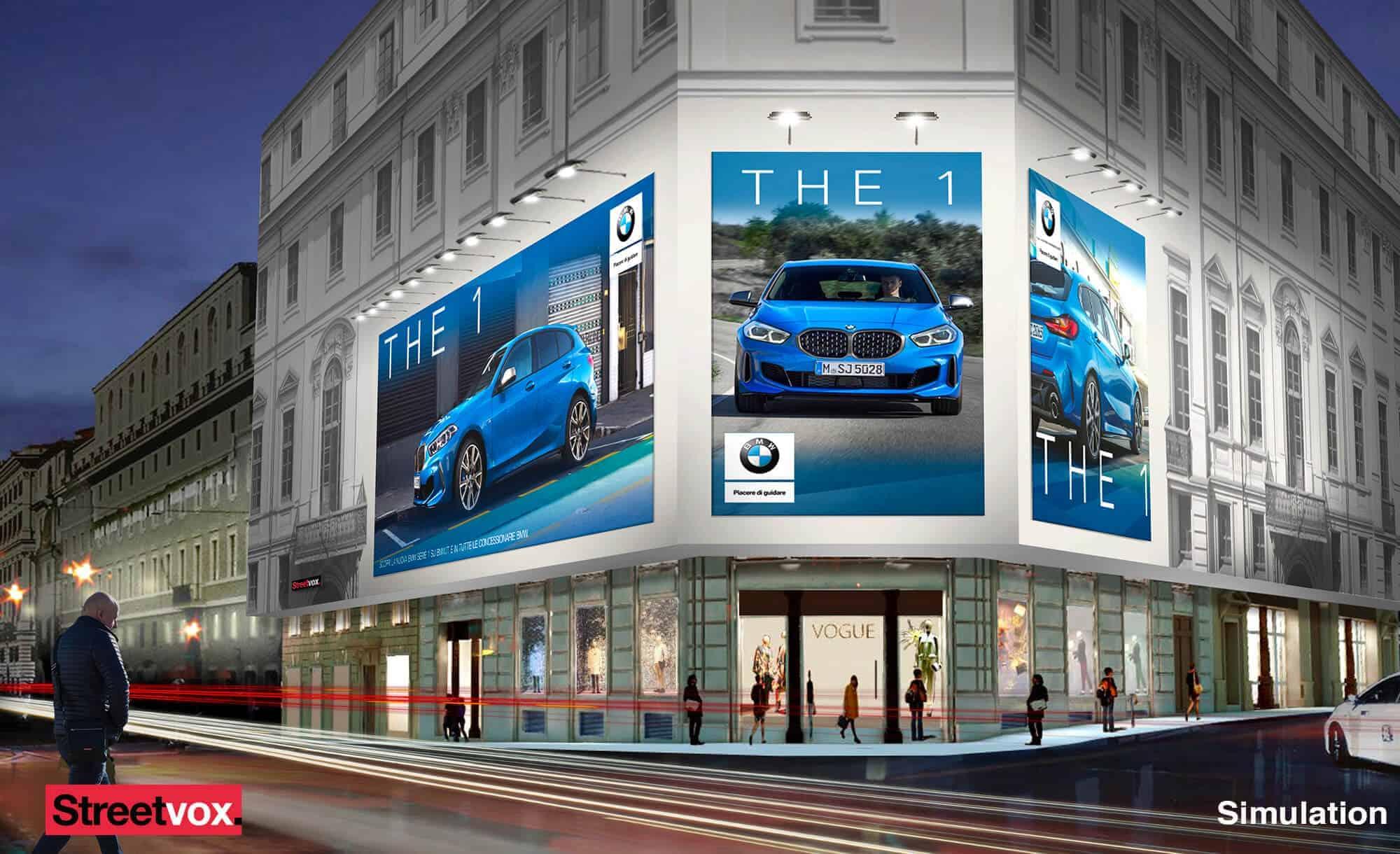 Maxi Affissione Streetvox in Via Tritone 66 a Roma con Automotive