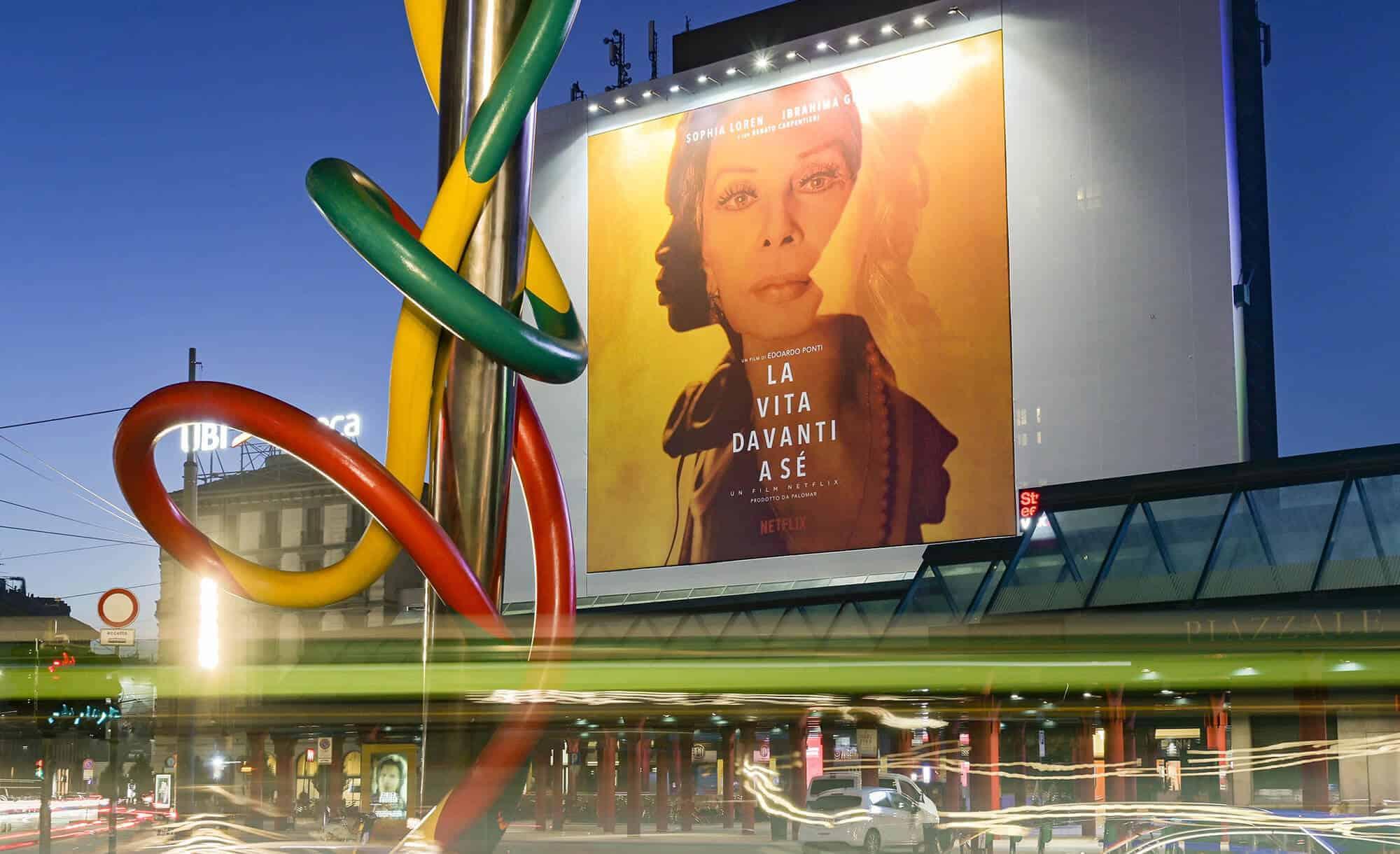 Maxi Affissione a Milano in Piazza Cadorna di Netflix (movie)