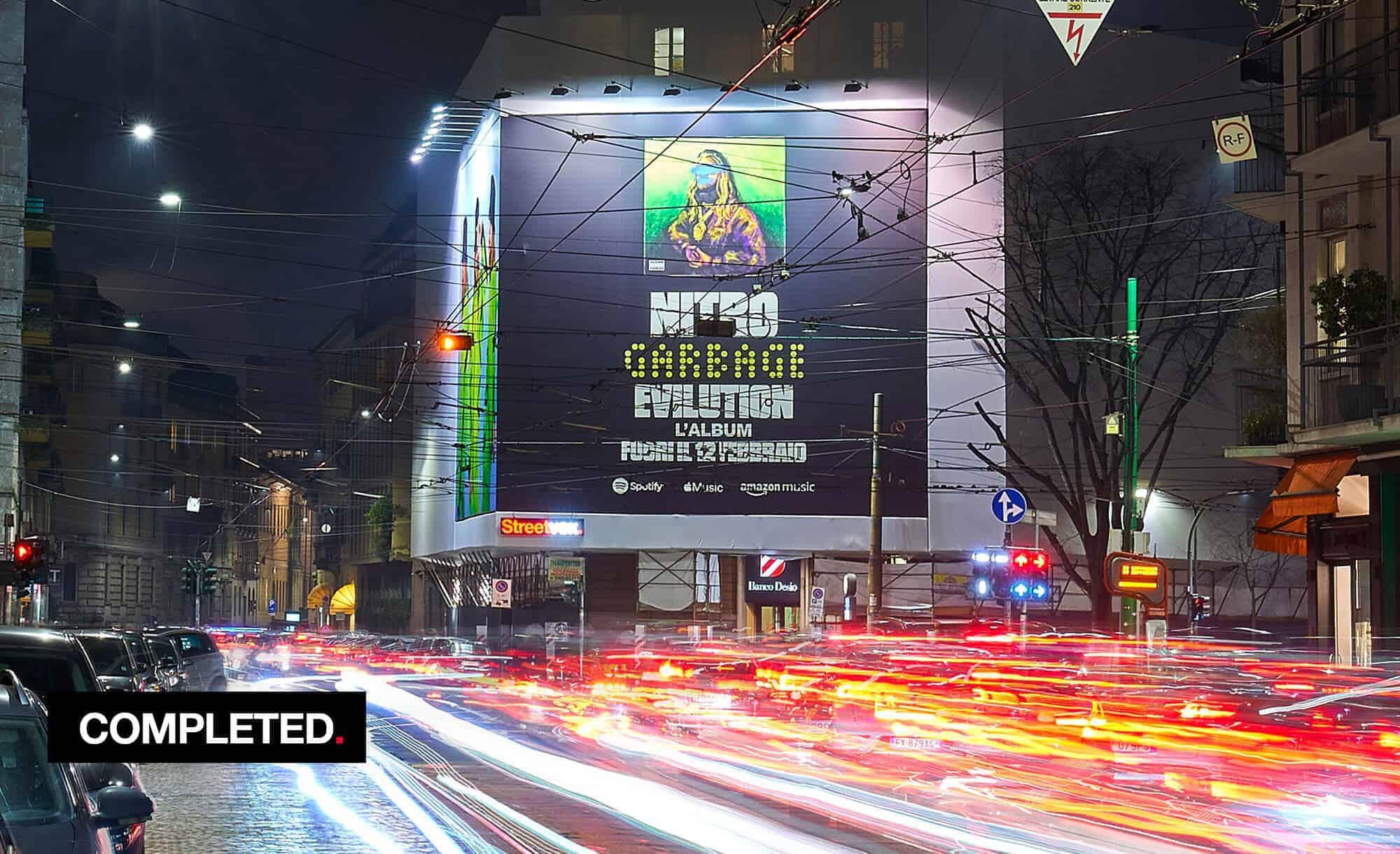 Maxi Affissione a Milano in Corso Magenta 42 con Sony Music e Nitro (Entertainment)