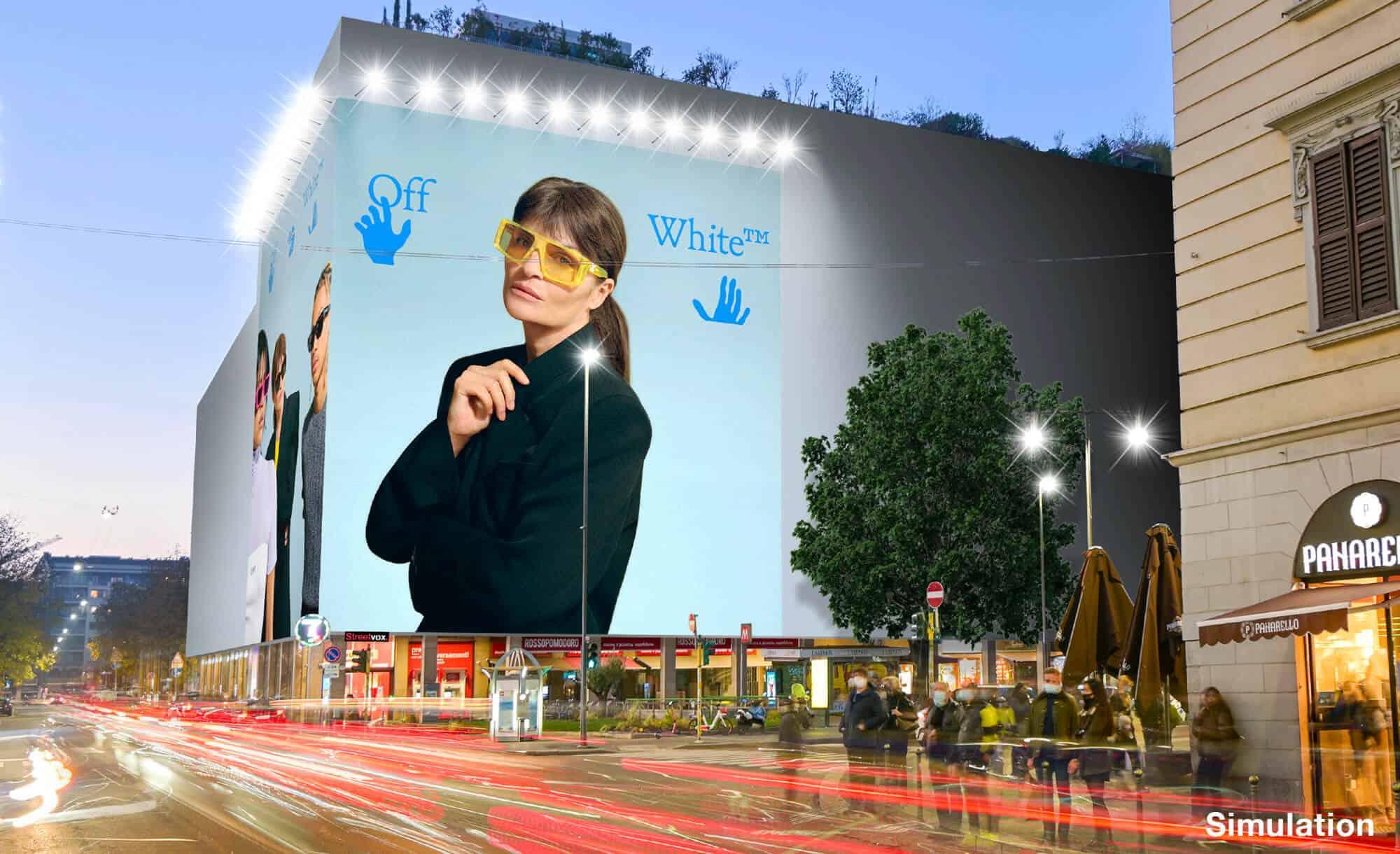 Maxi Affissione a Milano in Via Moscova 58 con Off-White (Fashion)