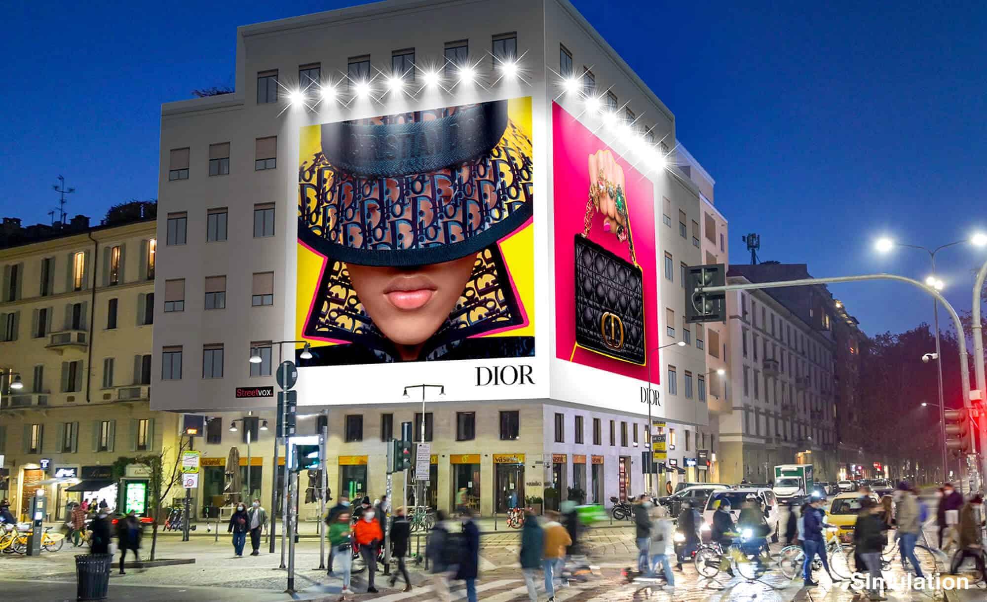 Maxi Affissione a Milano in Piazza XXV Aprile 1 con Dior (Fashion)
