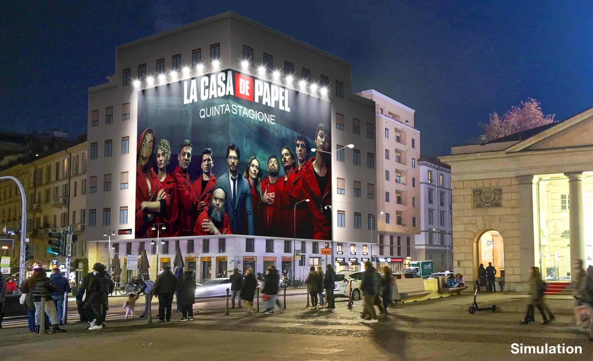 Maxi Affissione a Milano in Piazza XXV Aprile 1 con Netflix (Entertainment)