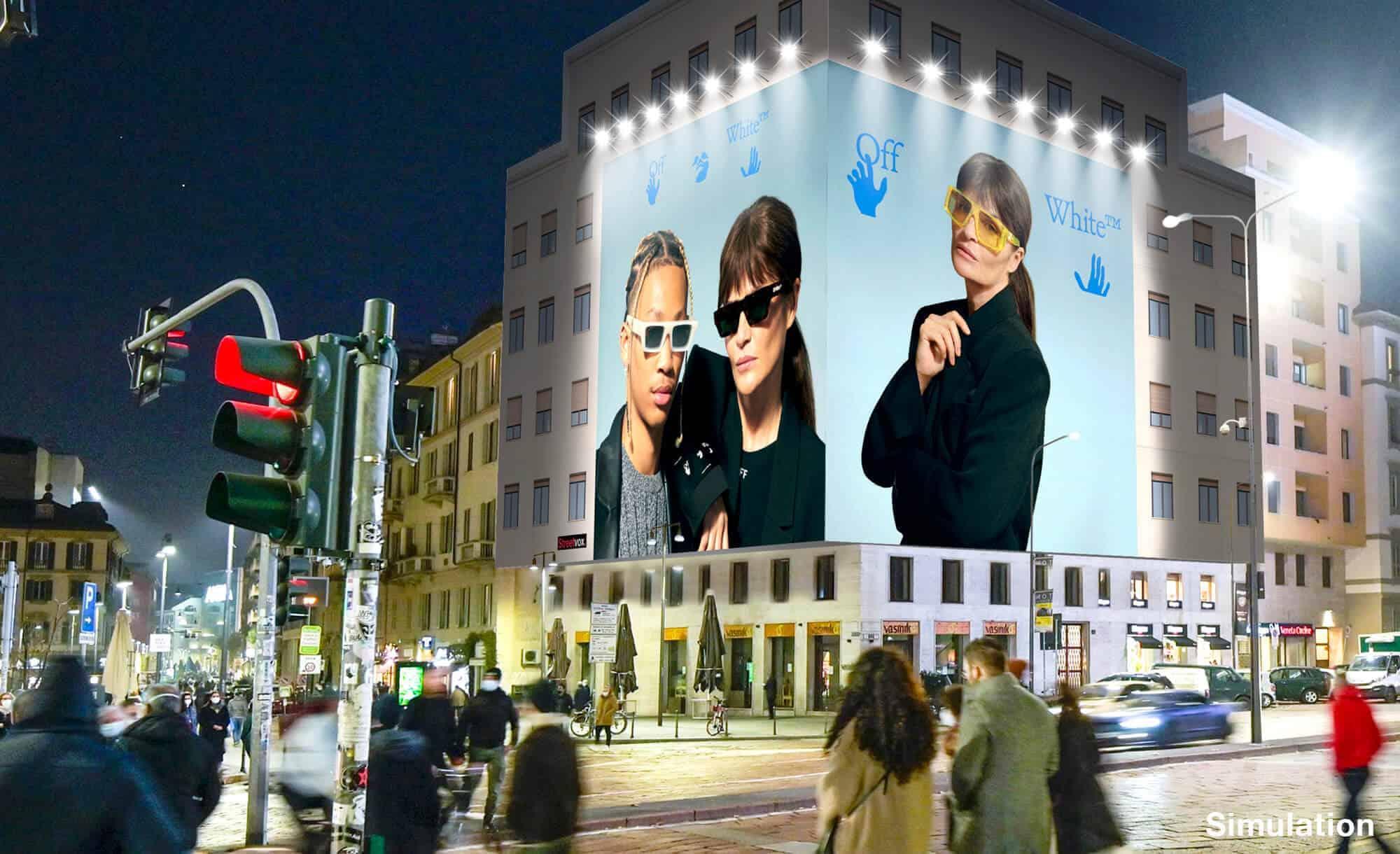 Maxi Affissione a Milano in Piazza XXV Aprile 1 con Off-White (Fashion)